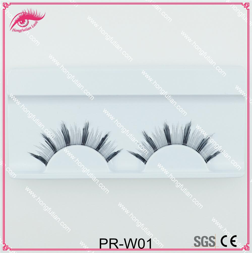 Own Brand OEM False Eyelash Human Hair Natural Lashes Supplier
