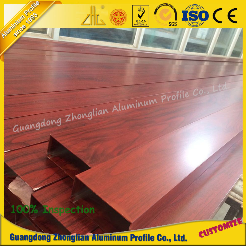 Aluminum Extrusion Profile for Furniture with Wood Grain