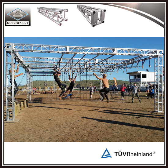 Outdoor 12 Inch Aluminum Thomas Ninja Obstacle Course Truss