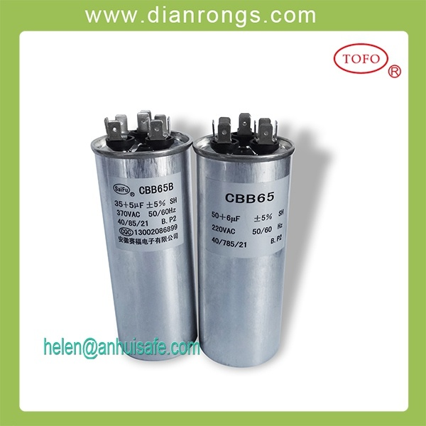 Cbb65 Air Conditioner Motor Capacitor for Air Conditioner
