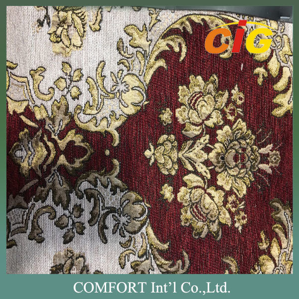 100% Polyester Chenille Sofa Fabric Upholstery Jacquard Chenille Fabric