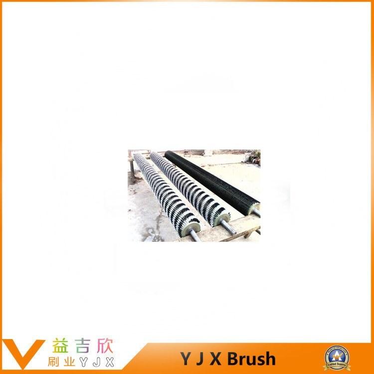 Cement Plant Clinker Roller Brush Cleaner, Coal Scraper Conveyor Sweepers Brush Roller