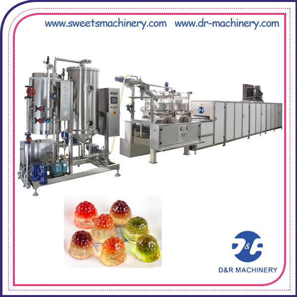 High Speed Candy Coating Making Machine Jelly Depositing Line