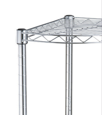 Four Tier Triangle Storage Rack for Corner Use