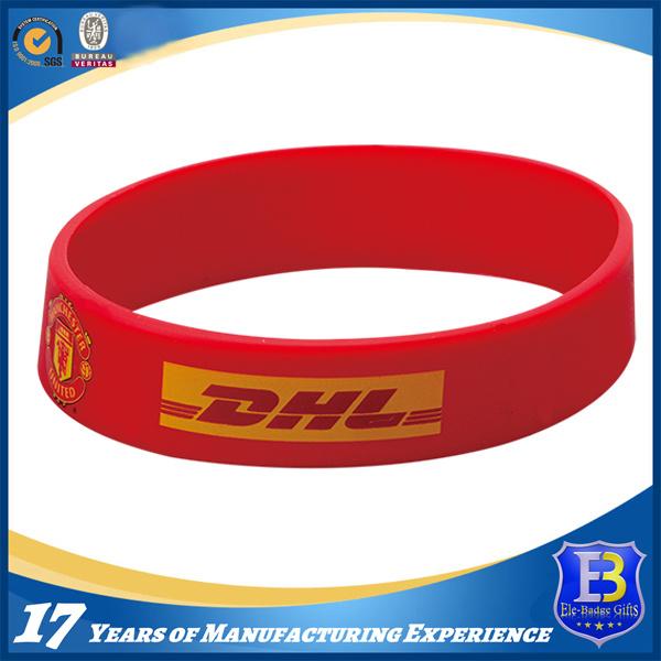 Custom Silicone Wristband for Promotion (ele-PVC002)