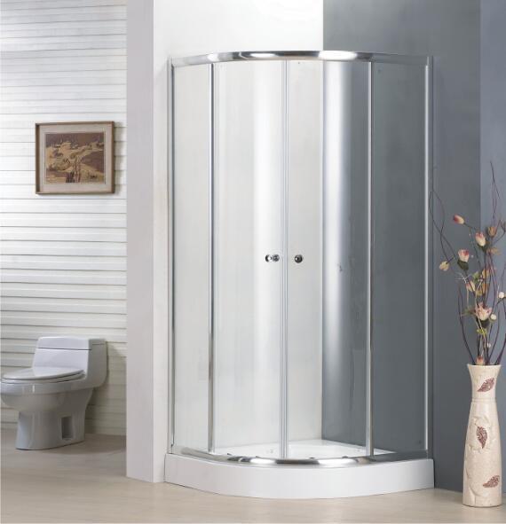 Bathroom Best Price Economy 4/5mm Quadrant Door Shower Enclosure
