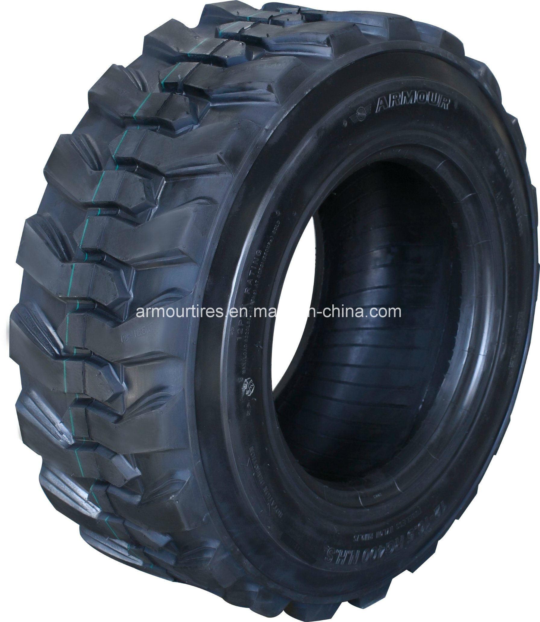 (10-16.5, 12-16.5, 14-17.5, 15-19.5 RG400/RG500) Industrial Tire for Skid Steer Purpose (JCB, BOBCAT)