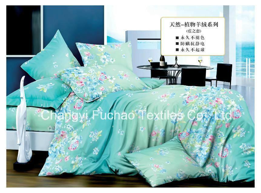 Polyester Microfiber Plain Dyed Cheap Bed Sheet Set Bedding Set