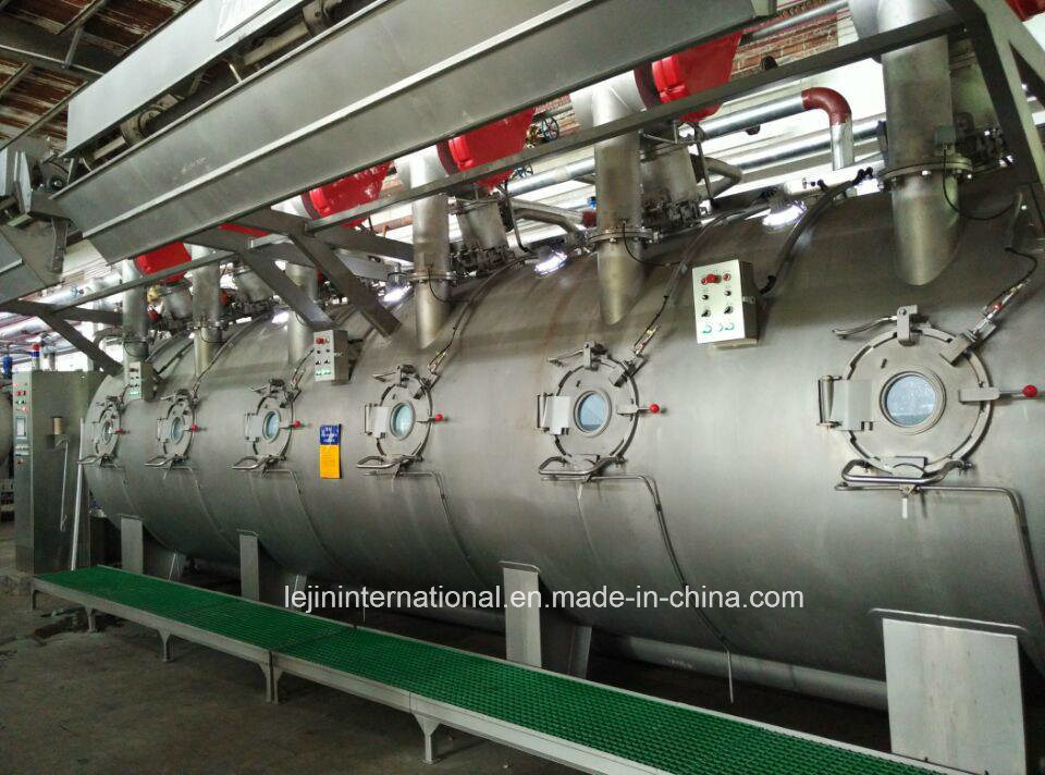 Bsn-OE-6p Ultra-Low Liquor Ratio Ecological Knit Dyeing Machine/ 250kg Capacity