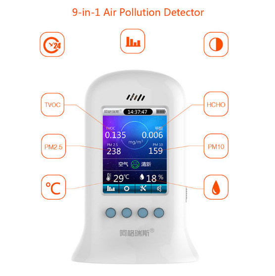 Indoor Portable Handle Tester Pm2.5 Pm10 Particle Counter Air Quality Equipment Detector