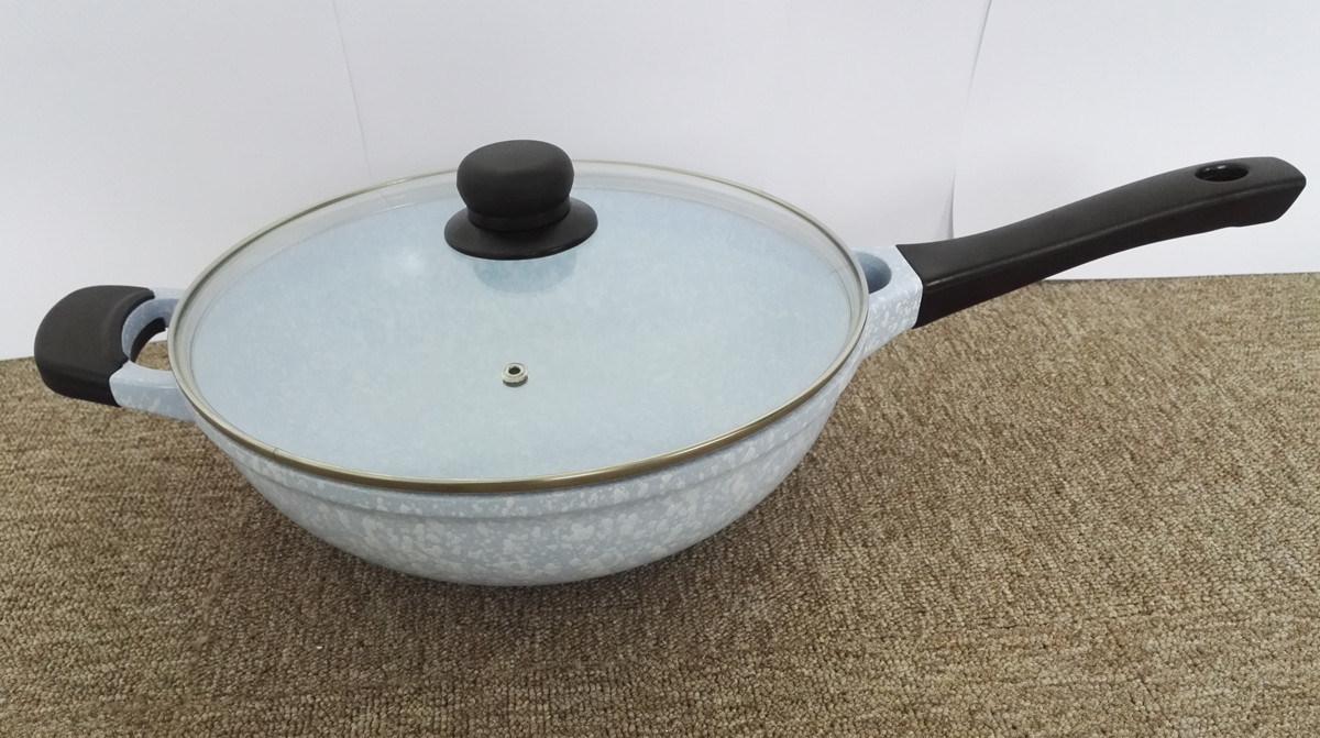 Kitchenware Casting Aluminum Ceramic Coated Wok Cookware