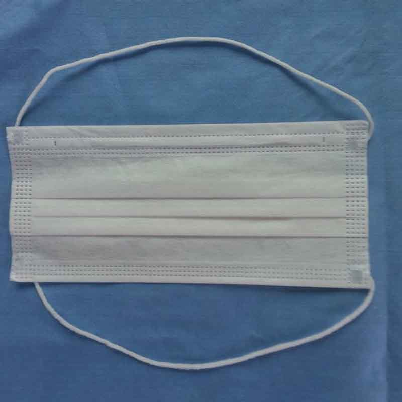 China Manufacture Supply 2ply or 3ply Disposable Es Nonwoven Face Mask with Head-Mounted Earloop
