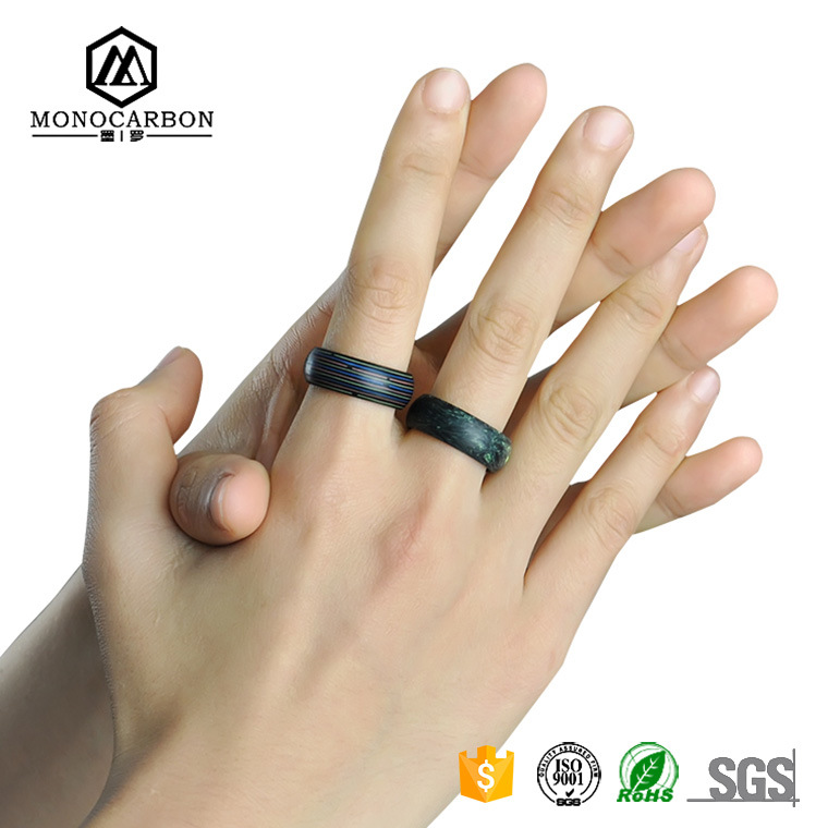 2017 New Style Fashion Carbon Fiber Men Ring Fashionable Jewelry