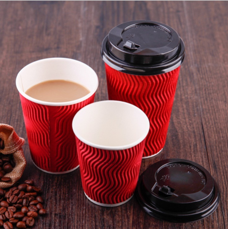 Disposable Double Wall Paper Cup/Ripple Paper Cup for Hot Drink Hot Coffee
