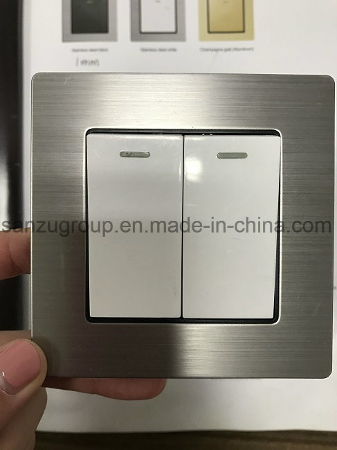 BS Style Stainless Steel Wall Switch
