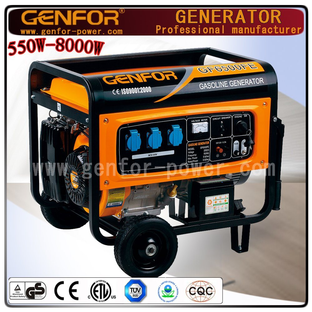 Hot Sale 100% Copper Wire 3.0/4.0/5.0/6.0/7.0/8.0kw Portable Power Industrial Gasoline Generator Alternator