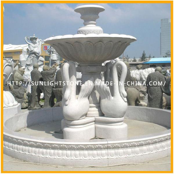 Grey Granite Sculpture Lion Animal Carving for Garden Decoration