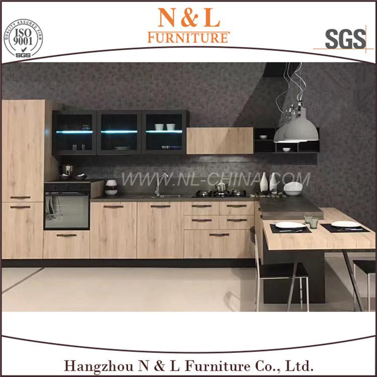 N&L High Quality Antique MDF PVC Kitchen Cabinet