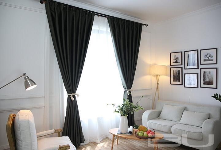 Linen Look Modern Design Blackout Curtain