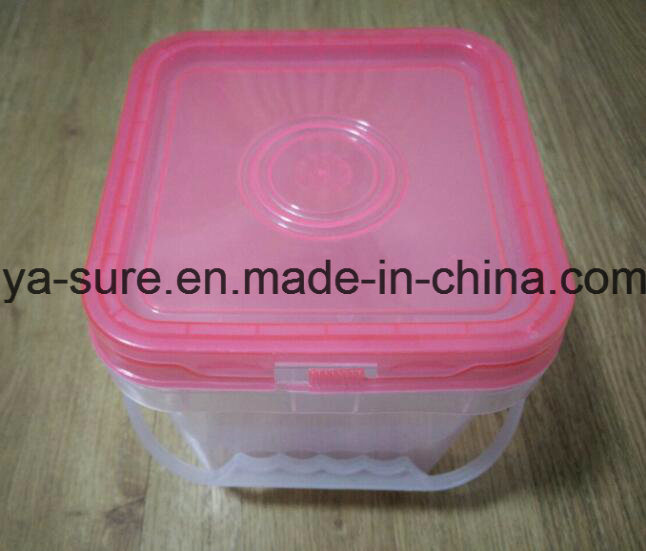 2L Transparent Square Plastic Pail for Hardware