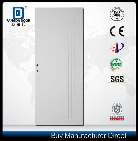 Decorative Aluminium Strips Inserted Residential Interior Steel Metal Security Door