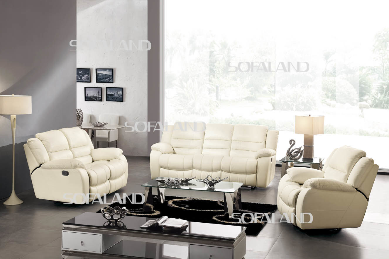 China living room furniture recliner leather sofa 801 for Living room sofa