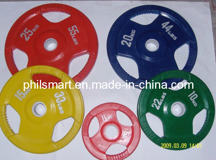 Solid Barbell Solid Grip Rubber Weight Olympic Plate