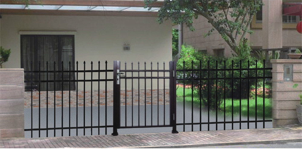 Aluminum Black Fence Gate for Residential Used