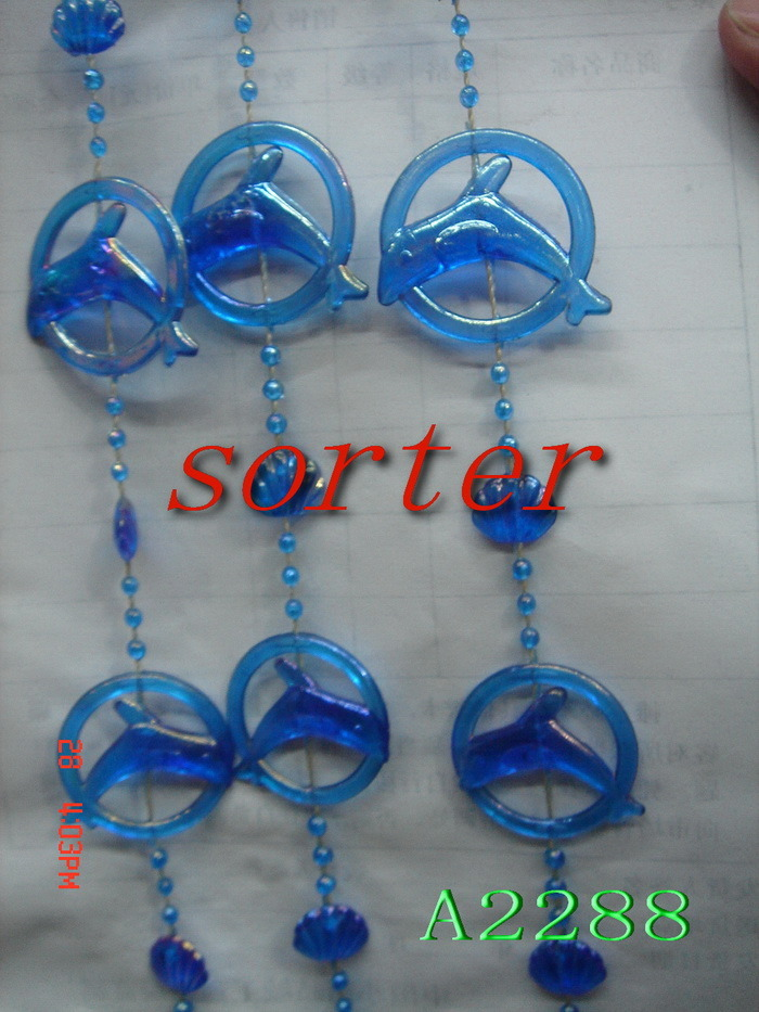Custom Acrylic Plastic Glass Bamboo Metal Beaded Curtains for