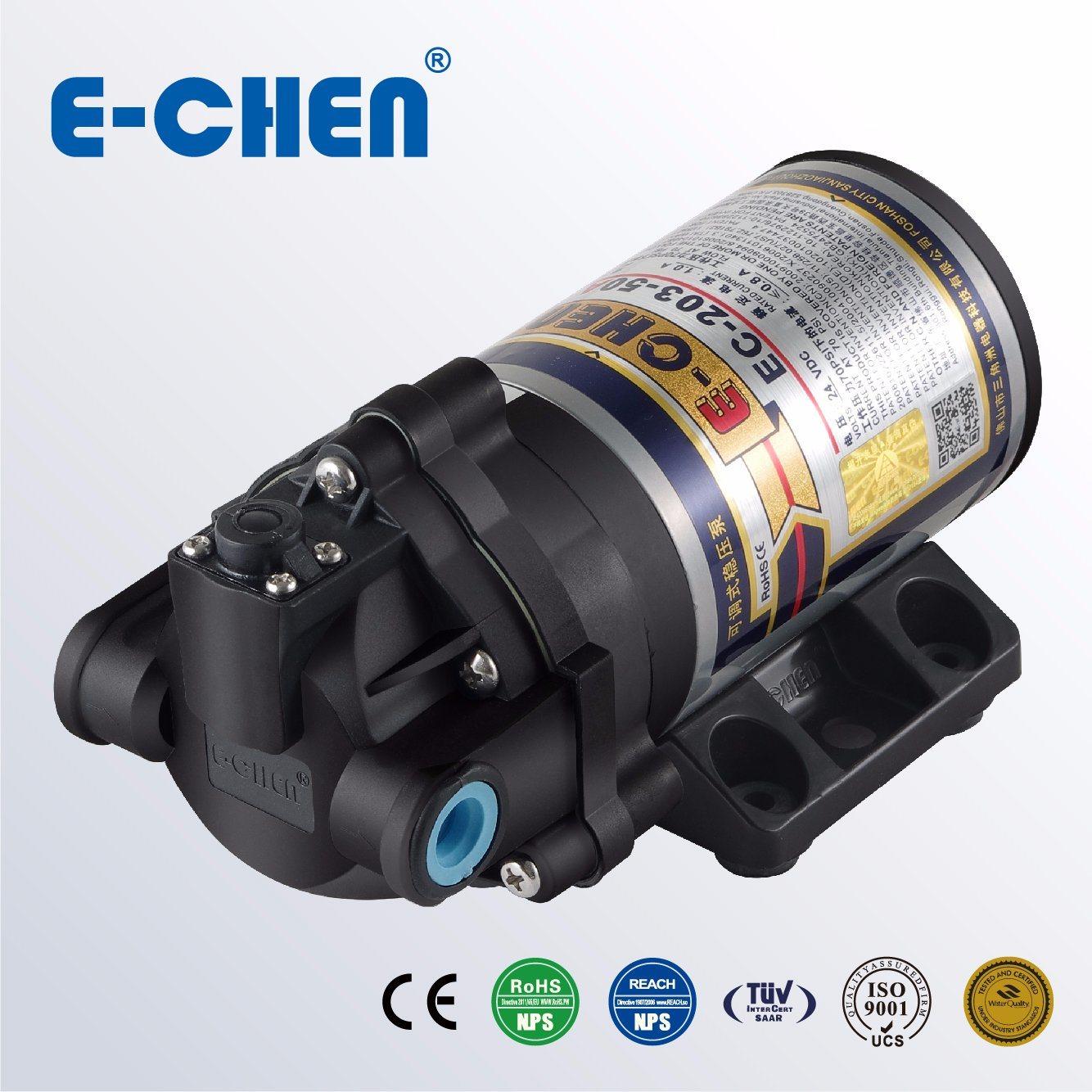 E-Chen 100gpd Diaphragm RO Booster Pump Self Pressure Regulating Ec203