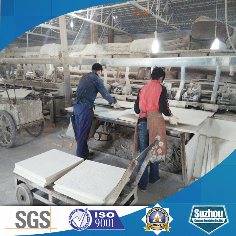 Acoustic Mineral Fiber Ceiling Tile/Mineral Fiber Ceiling (ISO, SGS certificated)