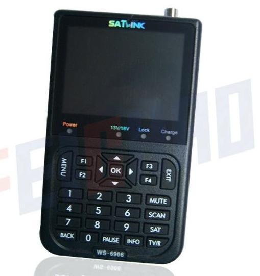 Newest Satlink WS-6906 DVB-S FTA Digital Satellite Finder (F01940)