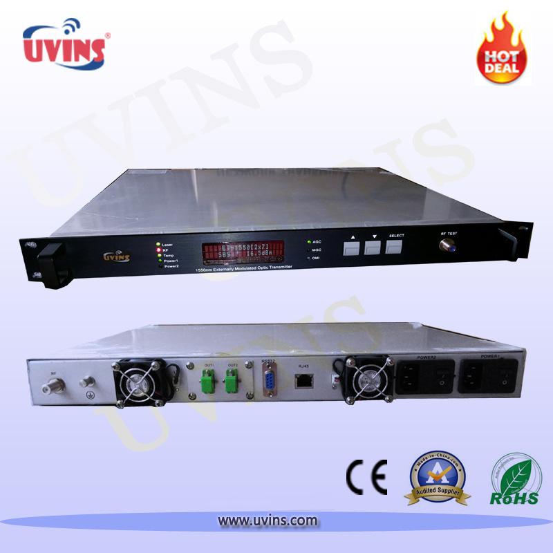 High Quality Optical Transmitter 1550nm CATV External-Modulated 2 Output