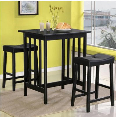 Dining Room on Kitchen Dining Room Furniture   Black Bistro Set 3 Pieces  Sh 148