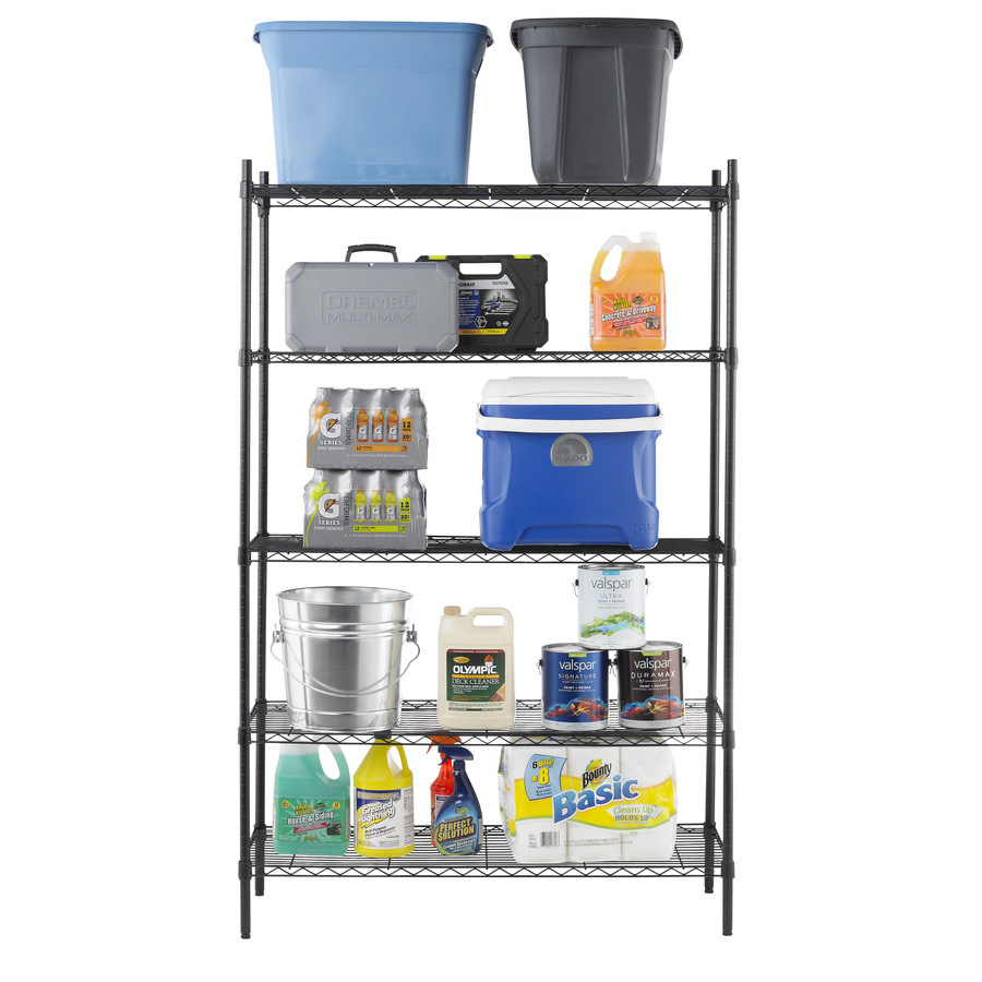Industrial Metal Storage Wire Shelving with Casters