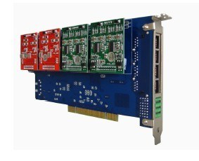 16 Ports Asterisk PCI Card, Telephony PCI Card, Voice Card. 16 FXO/FXS