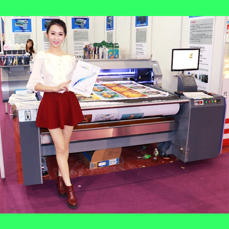 Digital Belt Printer for Fabric Roll to Roll Printing