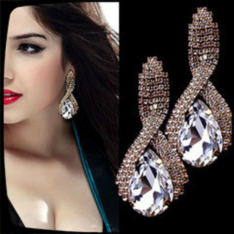 New Item Glass Stones Fashion Jewelry Earring