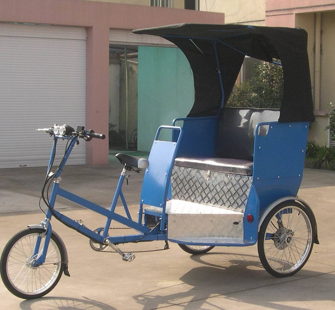 Two Function Pedal and Electric Power Rickshaw