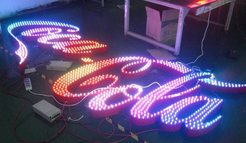 Super Colorful Effect Front Sign Letters for Amusement Park, Club, Bar