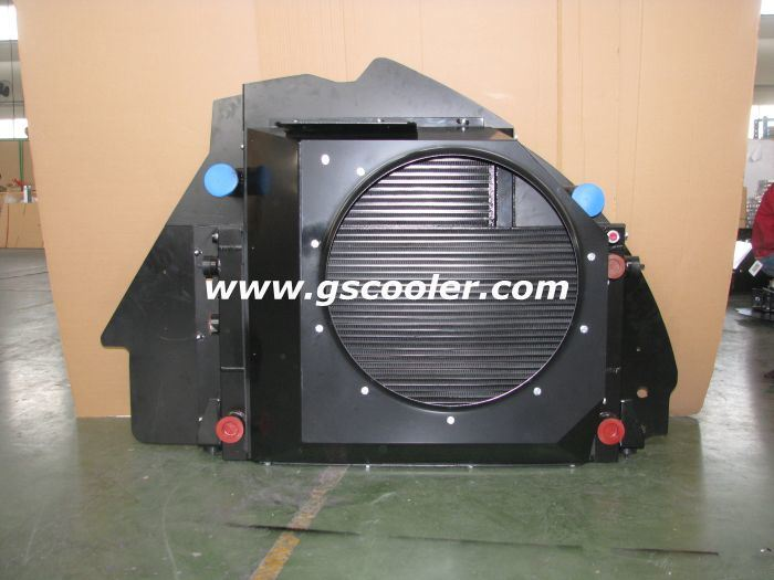 Large Oil Flow Aluminum Coolers for Construction Machinery