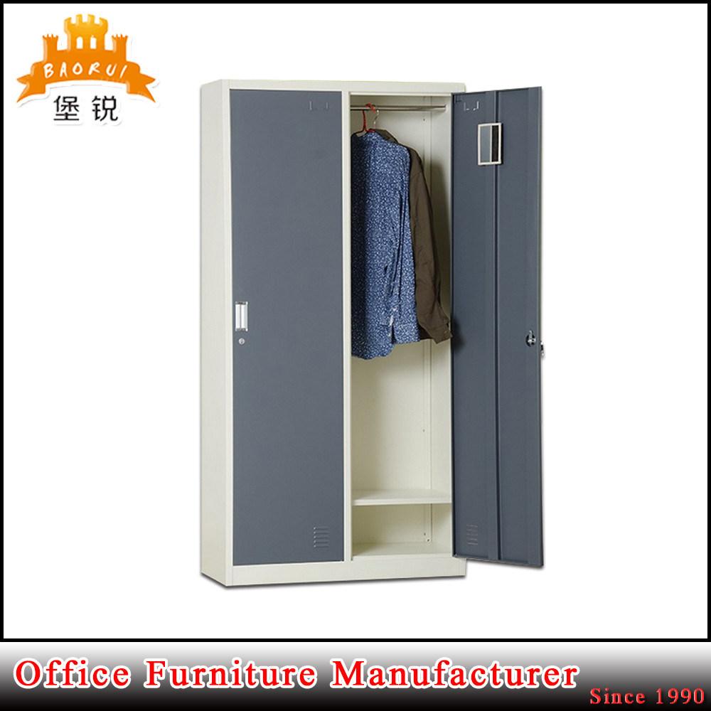 morden design steel 2door metal clothing locker lockable clothes cabinets wardrobes