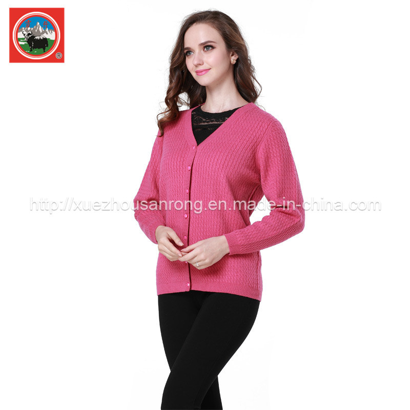 Ladies′ Cardigan Garment/Knitwear/Cashmere Clothing