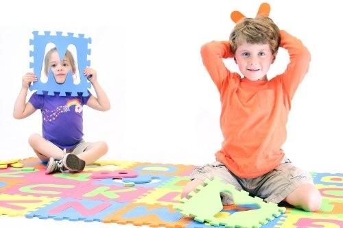 EVA Interlocking Puzzle Mat Alphabet ABC Jigsaw Foam Tiles Underlayment