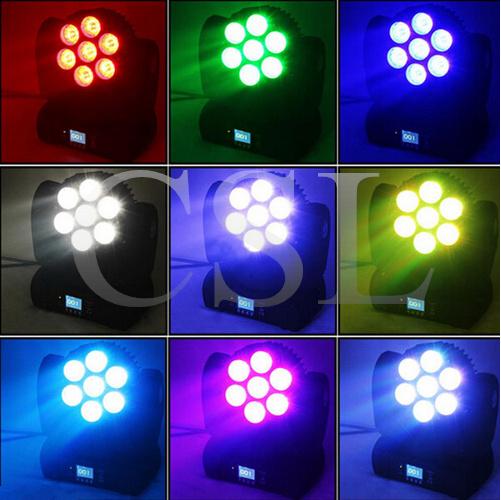 7PCS Osram LED Moving Head Beam Stage Light (CSL-715A)