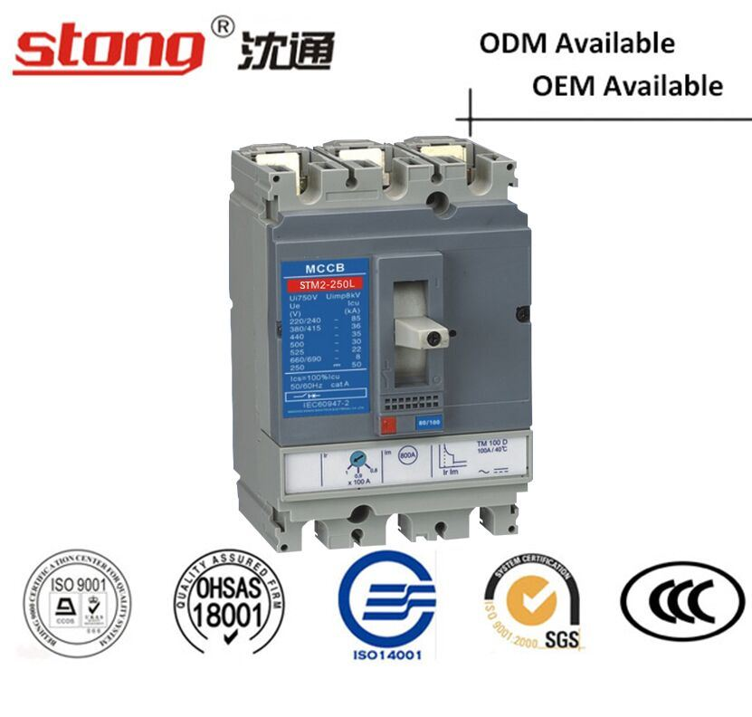 Stm2-100 160 250A Moulded Case Circuit Breaker MCCB with Parameters