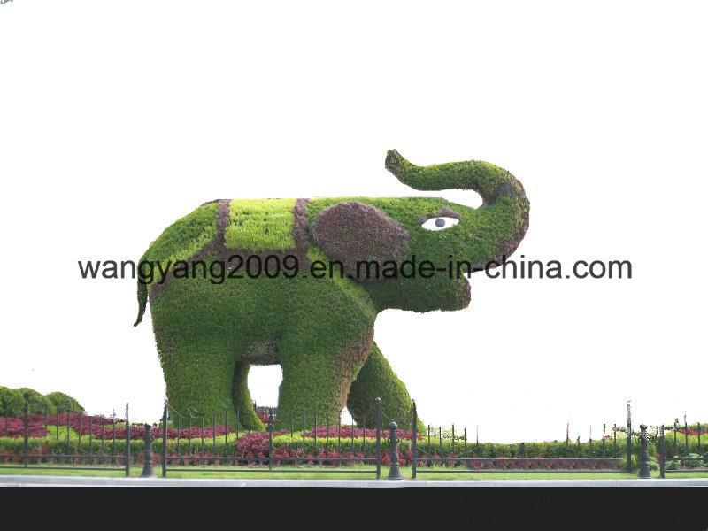 Garden Decor Fake Grass Natural Green Sculpture of Elephant