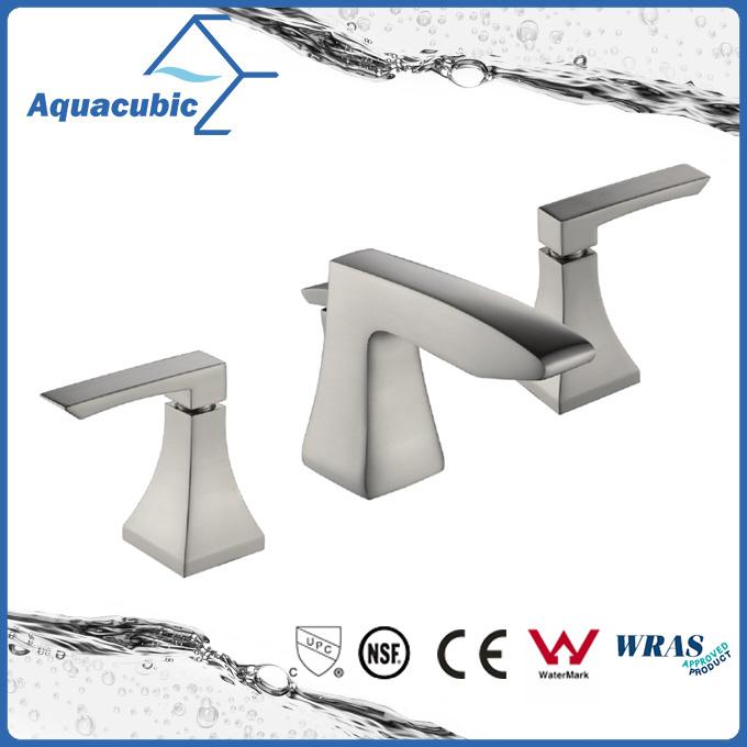 Upc Brass Widespread Three Hole Bathroom Lavatory Faucet