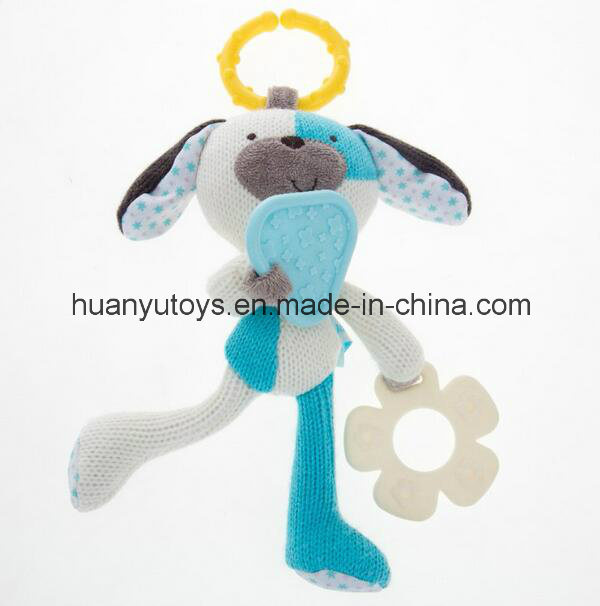 Factory Supply Baby Knit Fabric Dog Teeth Toy