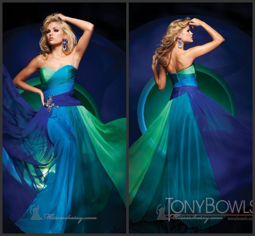blue green bridesmaid dresses images